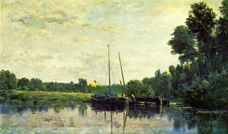 Charles Daubigny - Boote auf der Oise