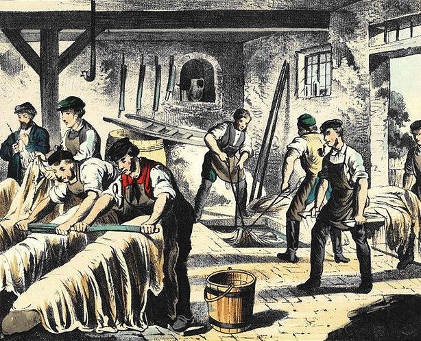 Der Gerber -Bilder aus dem Handwerkerleben. Quelle Wickipedia: Winckelmann 1880.