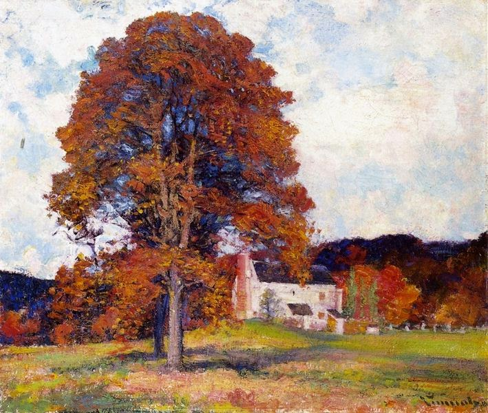 Robert Vonnoh - Autumn Hillside and My Studio