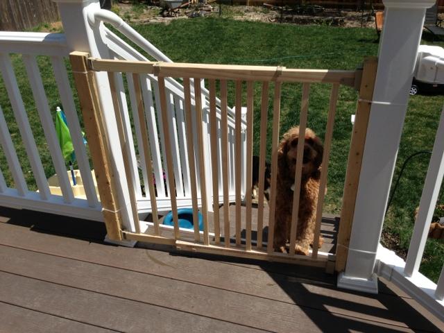 Outdoor Deck Baby Gate Diy Danielle
