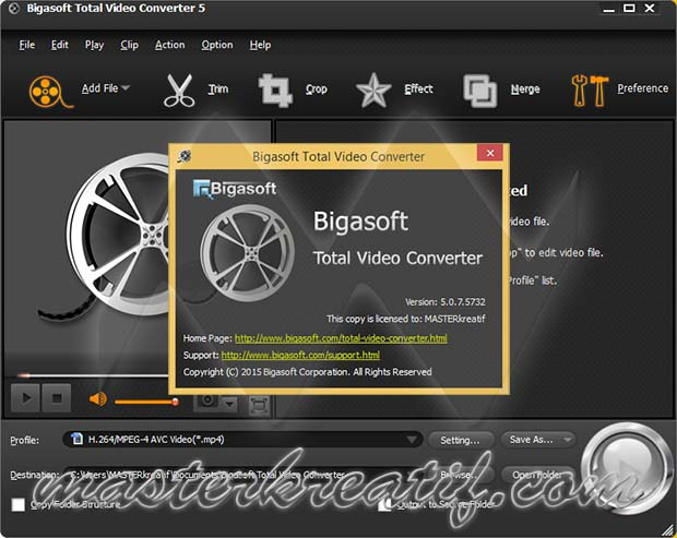 bigasoft total video converter full version crack