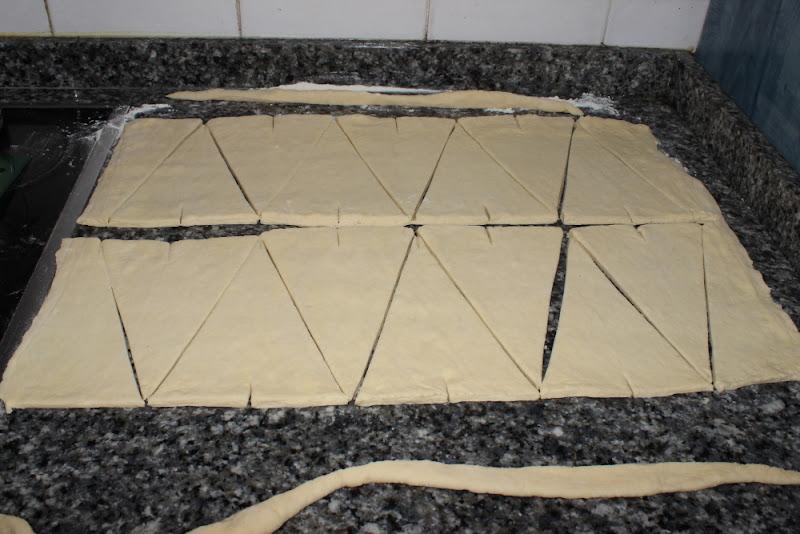 Croissants - Masa cortada