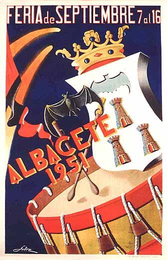 Cartel Feria Albacete 1951