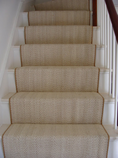 Waterfall Vs Hollywood Stair Installation Colony Rug Provider Of
