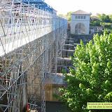 Passerelle provisoire du barrage de Pizançon
