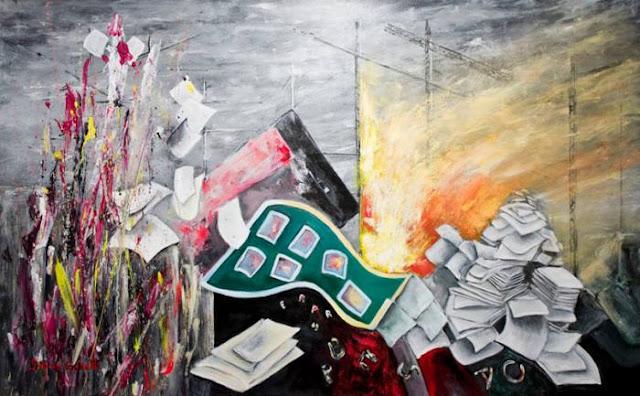 pintura  en acrílico Humanity 4 de Divina Sabaté Corbella