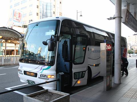名鉄バス「名古屋~松山線」 松山市駅到着