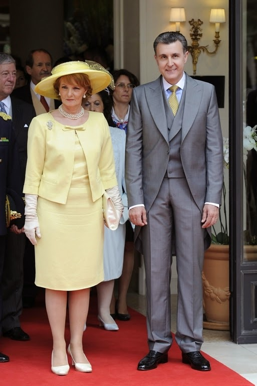 Principesa Margareta şi principele Radu la căsătoria Prinţului Albert de Monaco