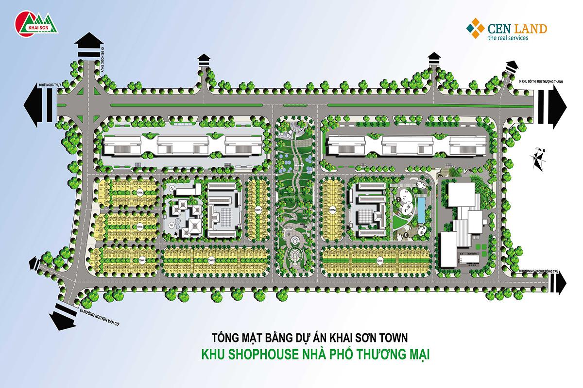 Mặt bằng dự án Khai Sơn City Long Biển