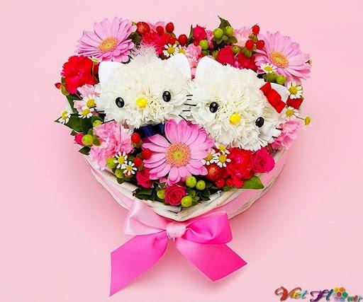 Cắm hoa hình thú yêu
