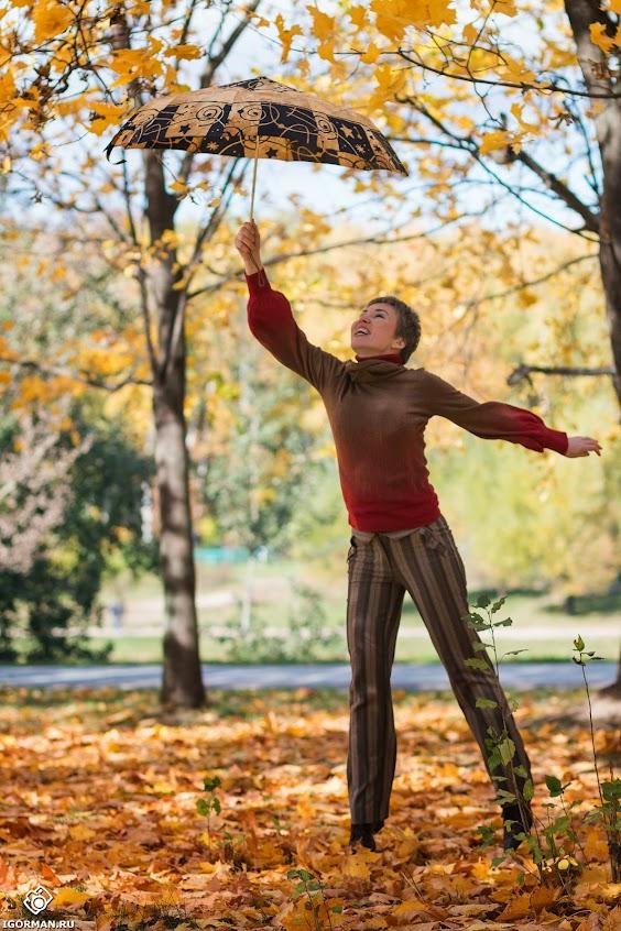 Осенняя фотосессия - девушка с зонтом, идеи для осенней фотосессии