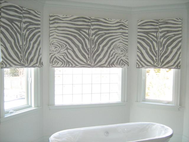 jade creative grey white zebra roman blinds. Black Bedroom Furniture Sets. Home Design Ideas