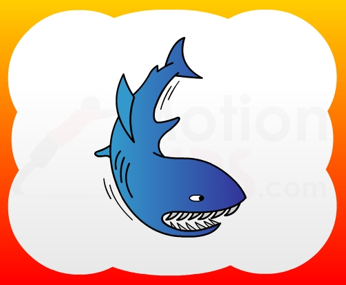 How2draw4kids How To Draw Shark For Kids
