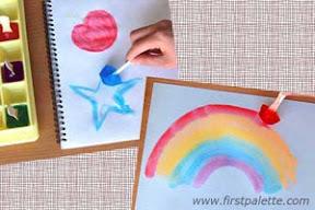 peinture enfant glaçon