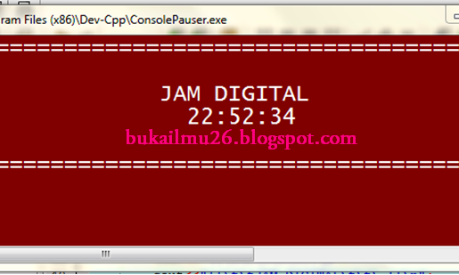 C++ Program JAM DIGITAL ( CLASS )