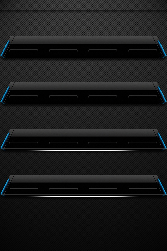 iPhone4 Wallpapers Neon Black Shelf