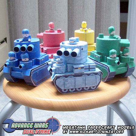 Advance Wars Megatank Papercraft