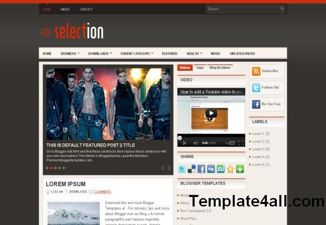 Free Fashion Blogger Mag Layout Template