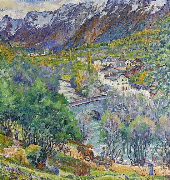 Giovanni Giacometti - Paesaggio di Bregaglia (novembre). Bergellerlandschaft. 1924