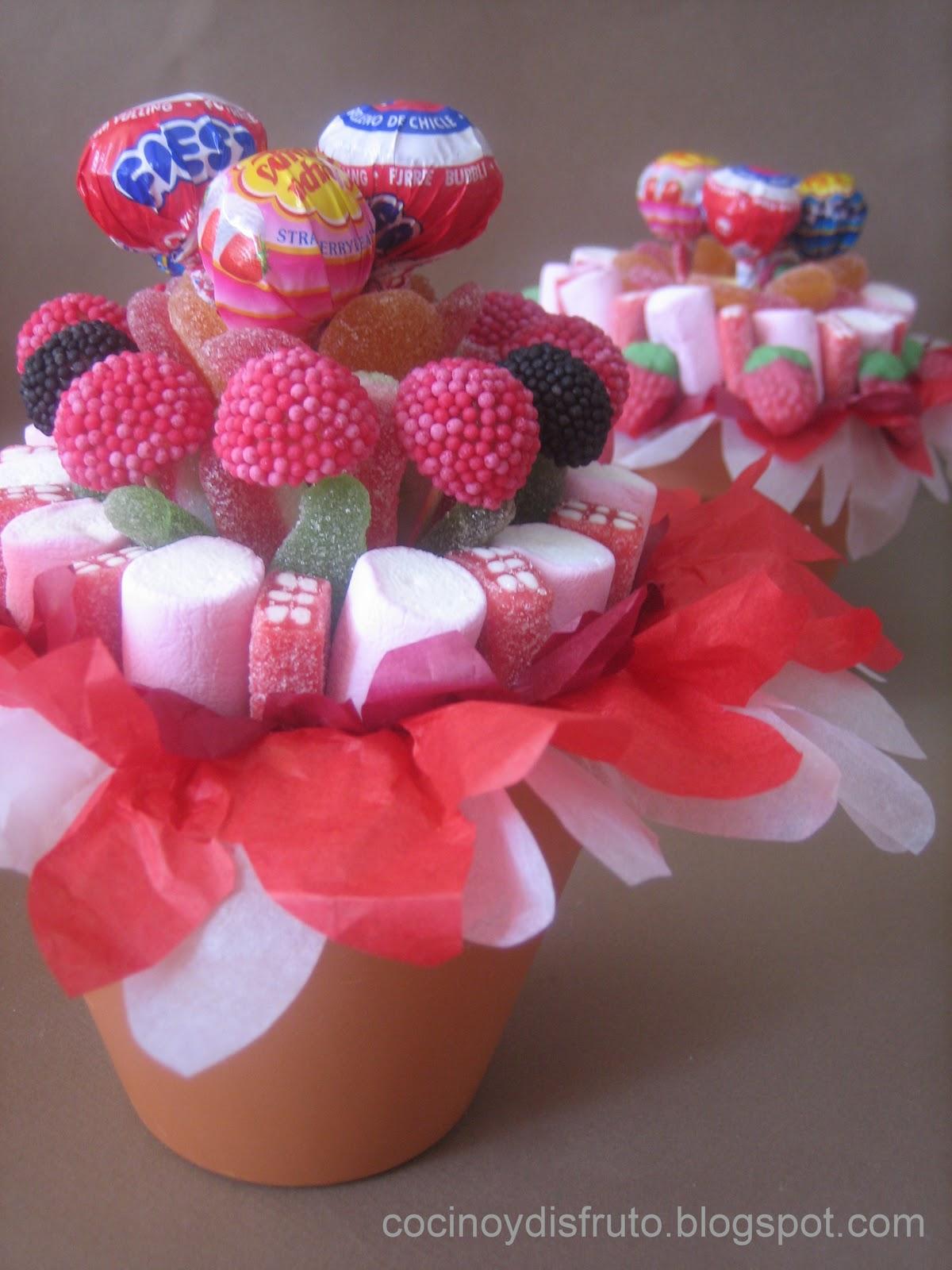 Cocino y disfruto macetas de gominolas for Ideas para mesas de chuches