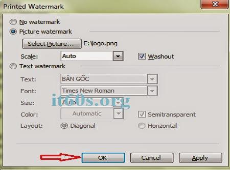 Cách đóng dấu bản quyền văn bản trên Word 2013 4