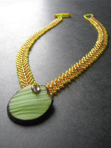 Tropical Tagua Pendant