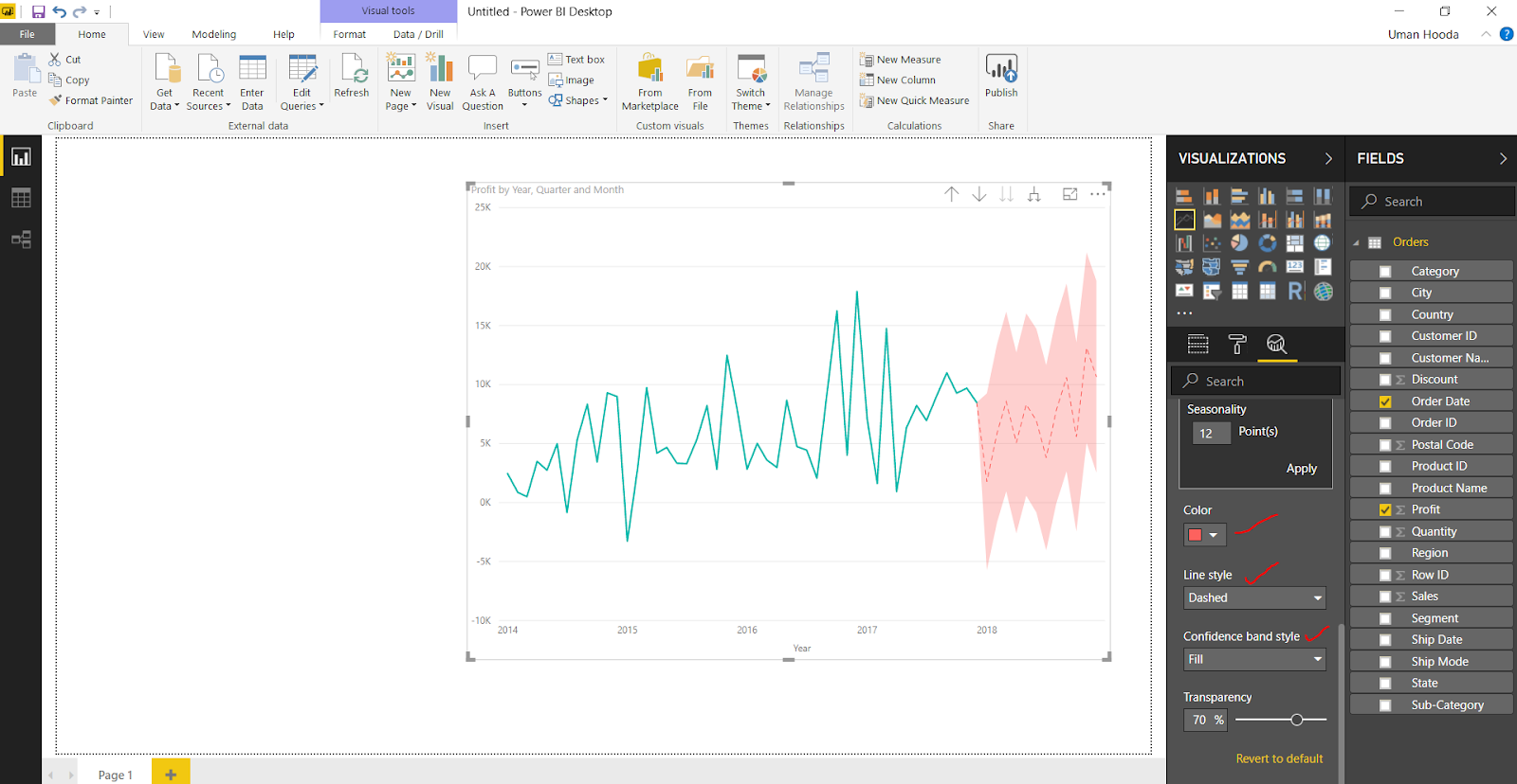Forecast in Power BI 33