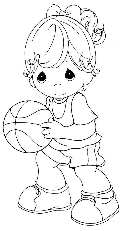 Ni a basquetbolista de los precious moments para for Bo on the go coloring page