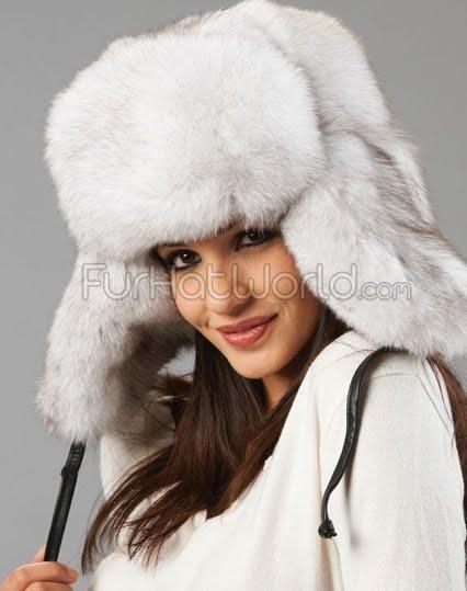 fur hats with ears. russian fur hat,
