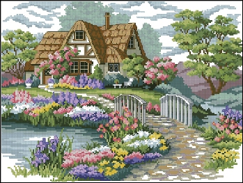 Charming Cottage cross stitch patterncross stitch pattern