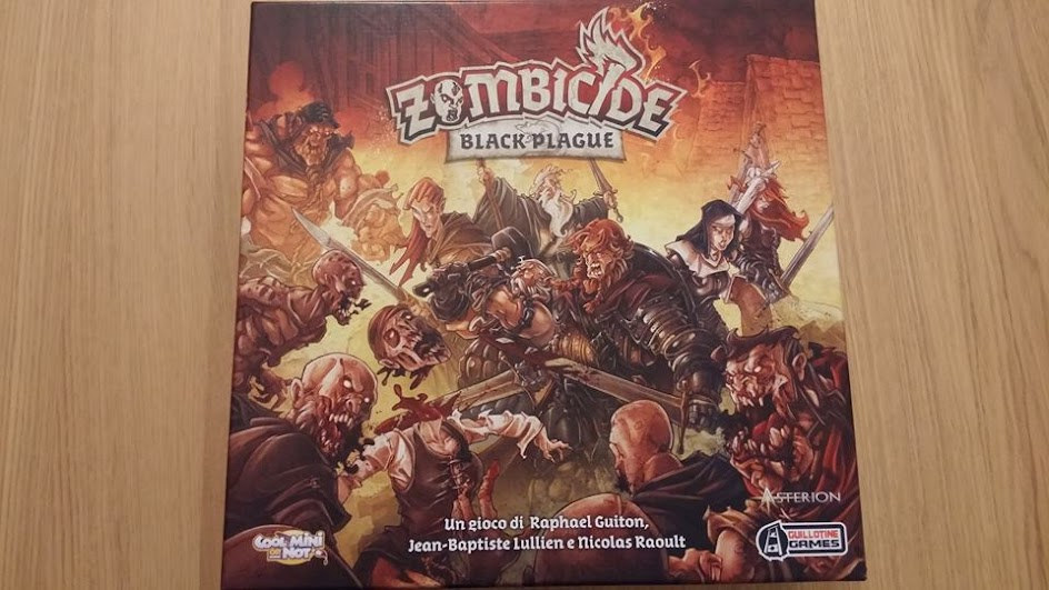 La scatola di Zombicide: Black Plague