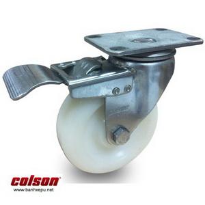 Bánh xe inox có khóa bánh xe Nylon | 2-4456-254-BRK4