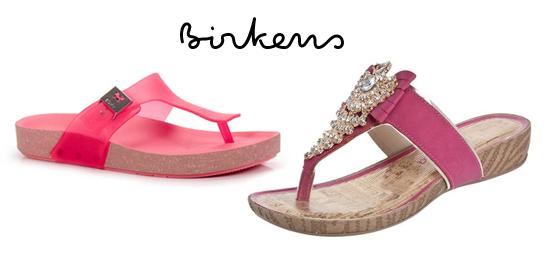 Calçados cor de rosa para o verão