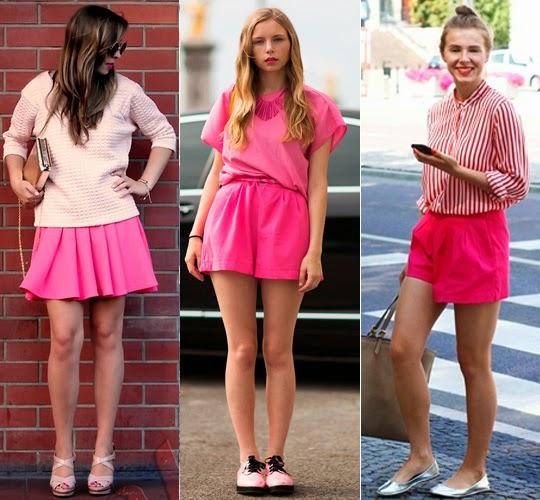 roupas rosa