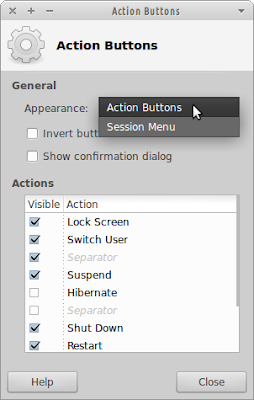 Action Buttons appearance preferences