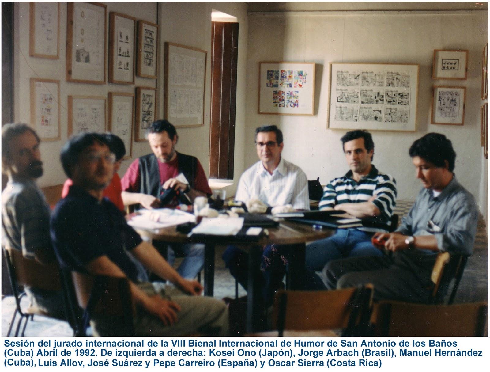 Banos Jurado.Sesion Del Jurado Internacional X Bienal De Humor De San