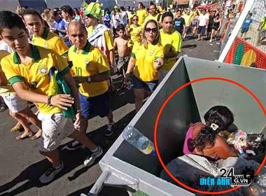 Bức ảnh khiến cả thế giới phải suy nghĩ về World Cup 2014