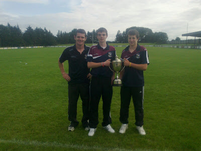 Under 16 Tedd Webb winners Eoin O' Ceallaigh & Luke Burke with selector Declan Meehan.