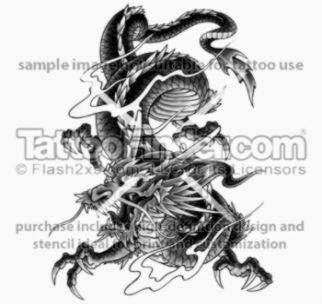 Large Asian Dragon tattoo design by George