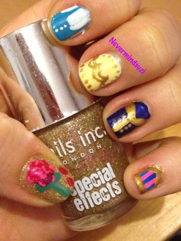 Never Mind Suzi Disney Nail Art Challenge Beauty And The Beast