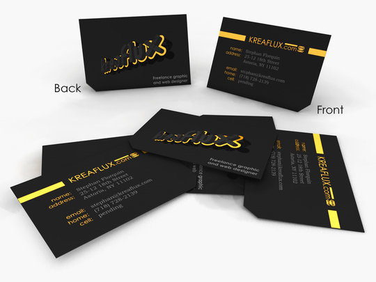 Business Card Design: Stephan Florquin - Business Card Design Concept Render