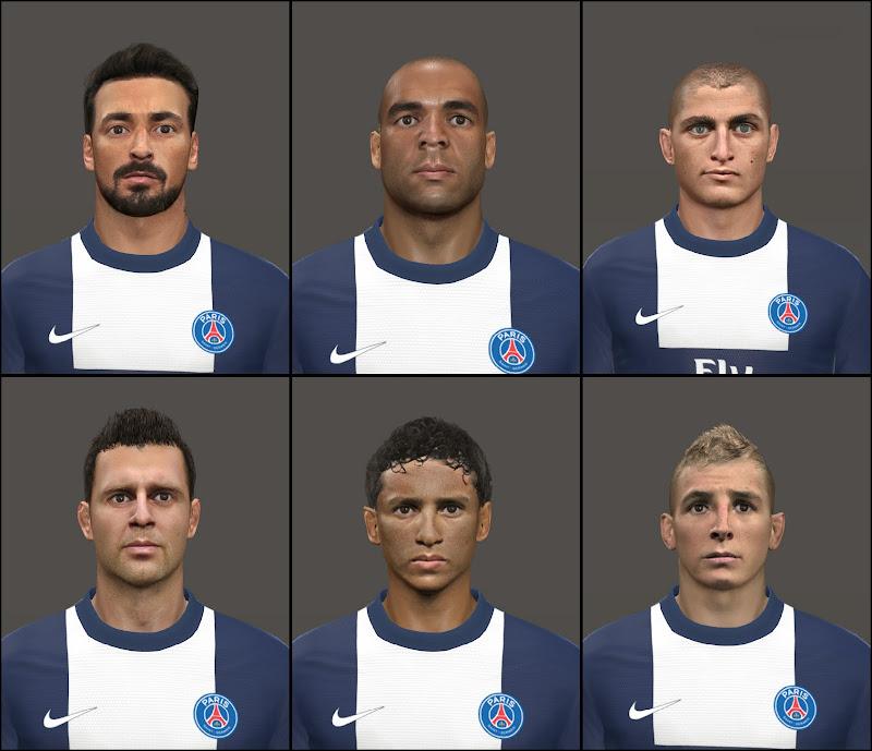 Facepack PSG - PES 2014