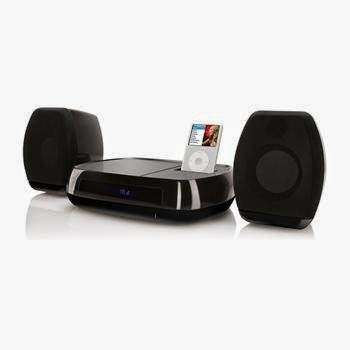 Coby 2-Channel DVD Microsystem with DivX Playback and Universal Dock for iPod