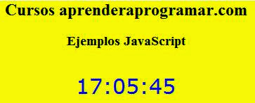ejemplo reloj javascript