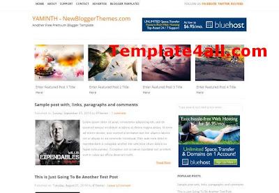 Grungy Portfolio Blogger Theme Template