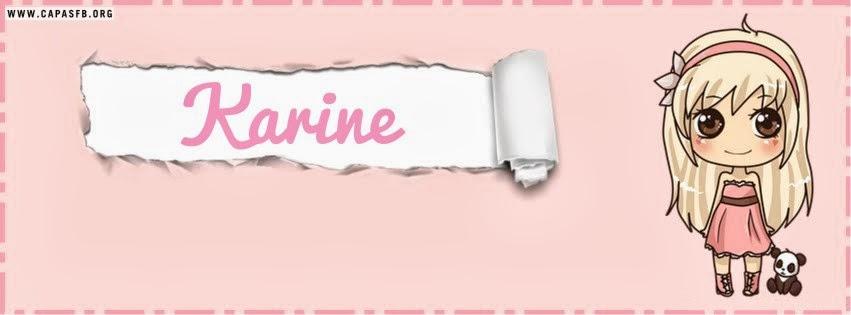 Capas para Facebook Karine