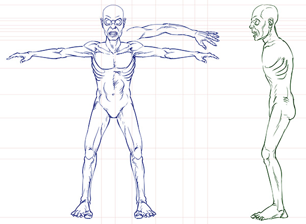 zombie 3d game character model sheet