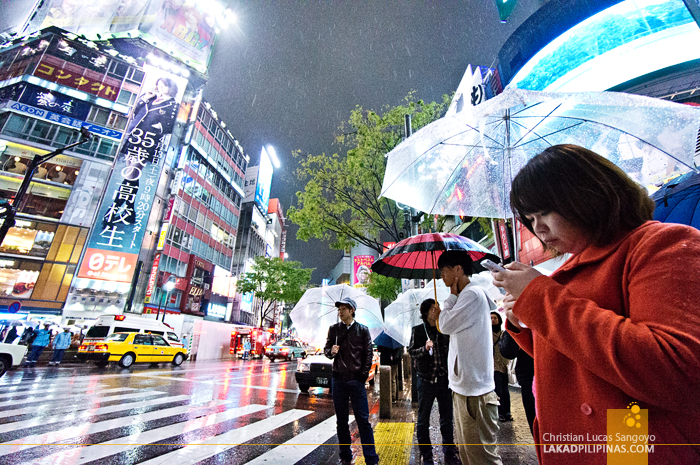 Waiting for the Green Light at Tokyo's Shibuya Crossing