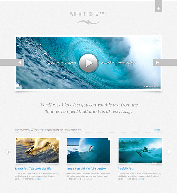 WordPress Wave Wedding Theme