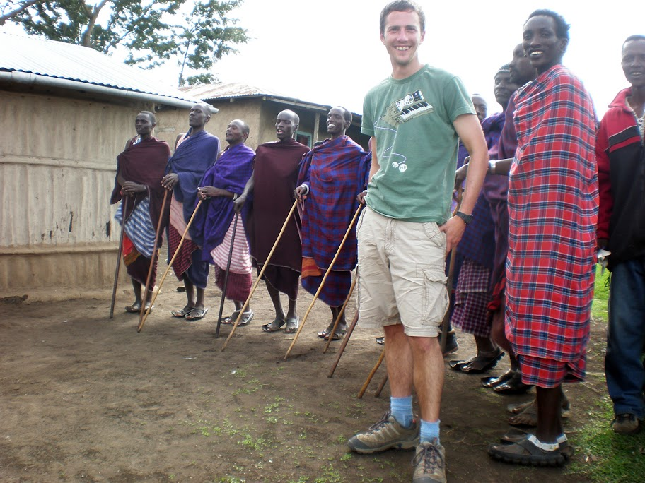 At a Maasai boma (village)